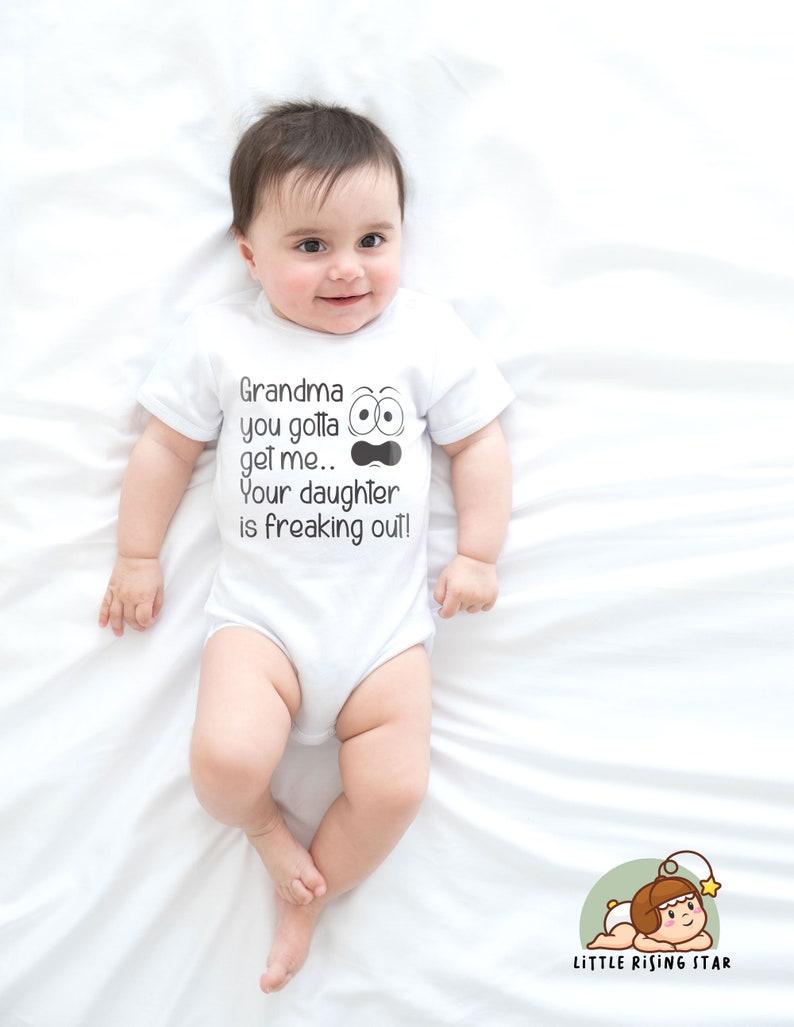 Nana/'s Funny Text Hilarious Baby Shirt Funny Saying Bodysuit Onesies\u00ae Grandma Funny Onesies\u00ae