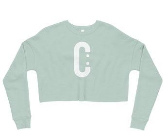 C Logo Crop Sweatshirt