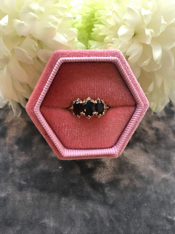 Gold Garnet Dress ring