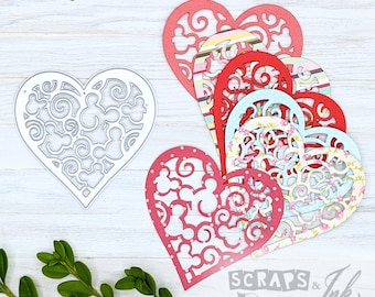 LACE HEART Metal Cutting Die for Paper Crafting