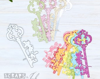 MOUSE KEY Metal Cutting Die for Paper Crafting