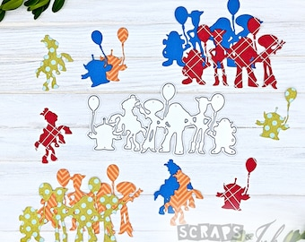 TOY FRIENDS Metal Cutting Die for Paper Crafting