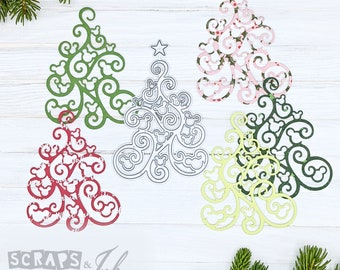 SWIRLY TREE Metal Cutting Die for Paper Crafting