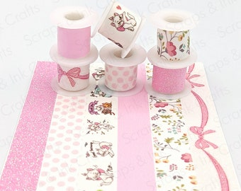 Set of 6 Washi Tape- Marie from Aristocats- Disney Inspired