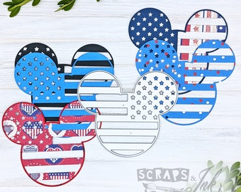 FLAG MOUSE Metal Cutting Die for Paper Crafting