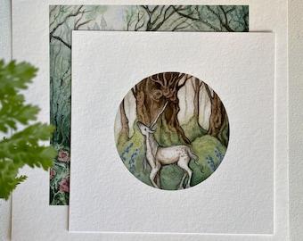 Unicorn Print, Unicorn Wall Art, Fantasy Illustration Print, Whimsical Print,