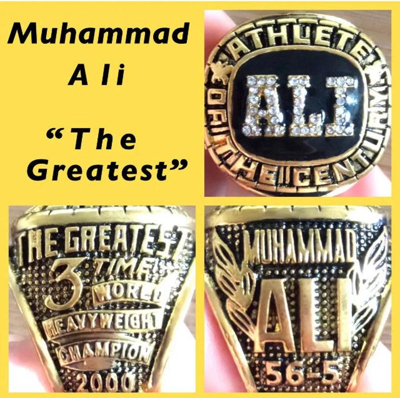 Muhammad Ali 3X World Heavyweight Championship Ring Size 11