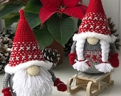 Crochet Pattern Nordic Gnomes (Crochet)
