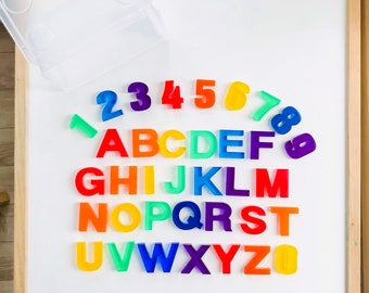 Rainbow, Resin Letters, Resin Numbers, Alphabet, Learning Through Play, Gift, Children, Learning, Colour,