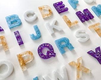 Frozen, Themed Resin Letters, Alphabet, Learning, Resin Epoxy, Elsa, Anna, Gift, Children, Play