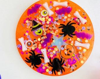 Halloween ISpy Coasters, Coasters , Halloween, ISpy, Look and Find, Searching, Resin, Epoxy, Learning Through Play, Children, Gift,