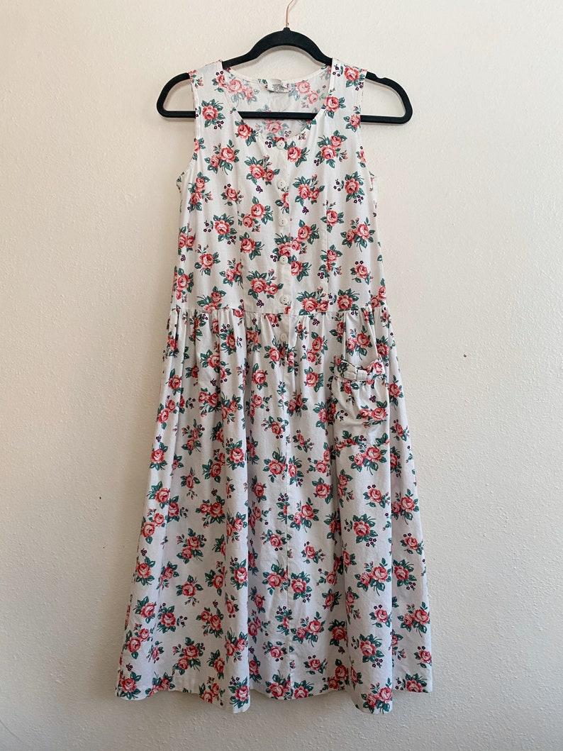 Vintage 50s Rockabilly Floral Summer Dress