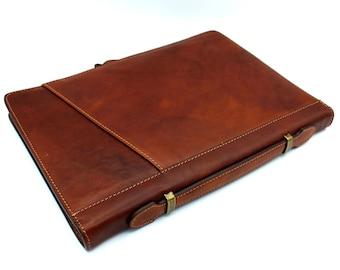 Leather Organizer Leather Document Folder Leather case for table Document bag Macbook leather case Portfolio folder Leather Briefcase