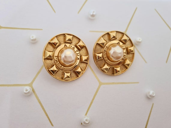 Agatha Paris vintage clip-on earrings