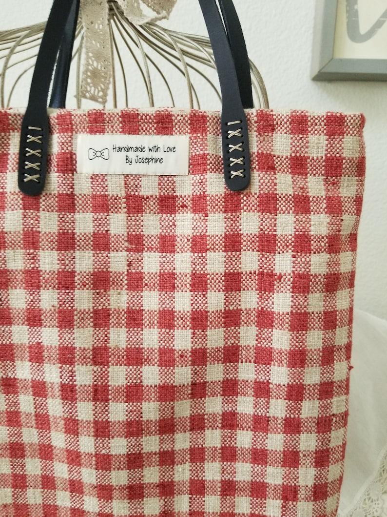 Handmade 19 Strap Easy Daily Bag  Red Plaid Bag