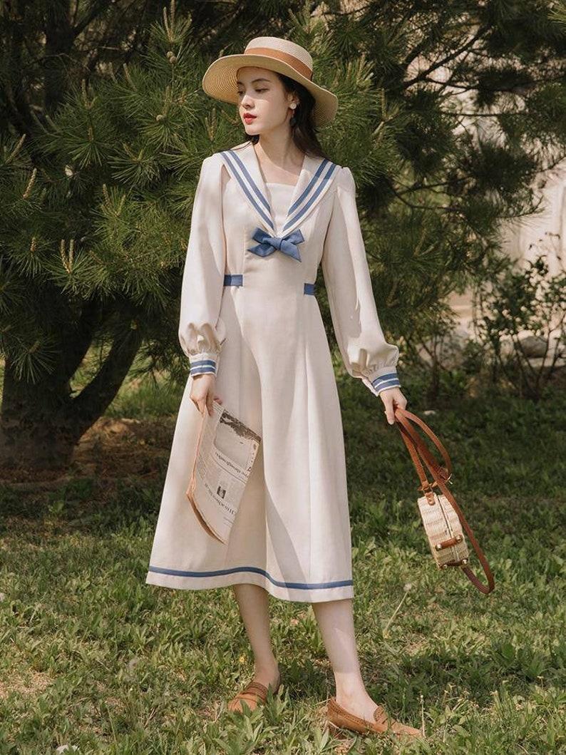 Pin Up Girl Costumes | Pin Up Costumes Vintage Katherine Dress Vintage French Dress Vintage Dress Floral Dress Cottagecore Dress French Dress Floral Dress 1940s $70.01 AT vintagedancer.com
