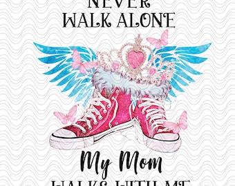 Forever Beautifully Strong Angel Wings Mom Nanny Rustic PNG  JPG Digital Memorial Rest in Peace RIP Add Photo Memory of Wood look