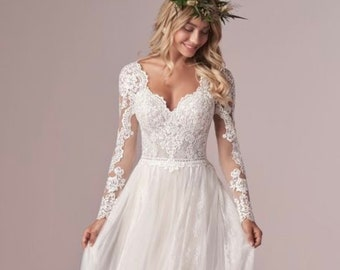Lace Wedding Dress Etsy