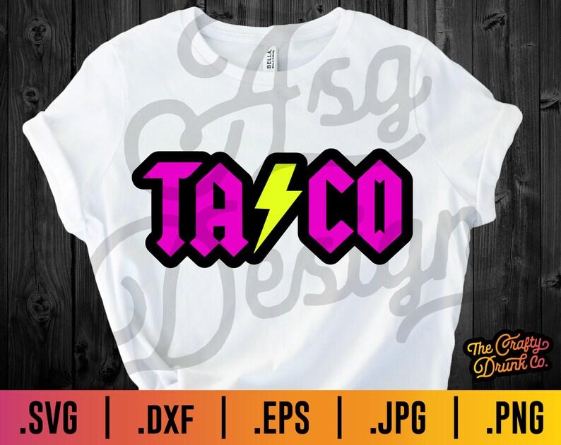 ACDC Style SVG Taco SVG Funny Taco Svg