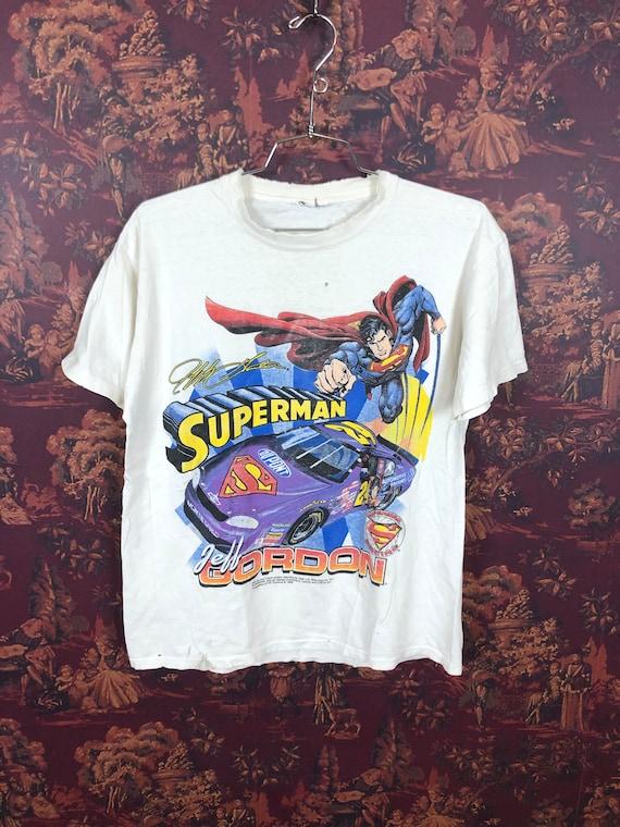 Jeff Gordon Superman 1999 nascar T shirt