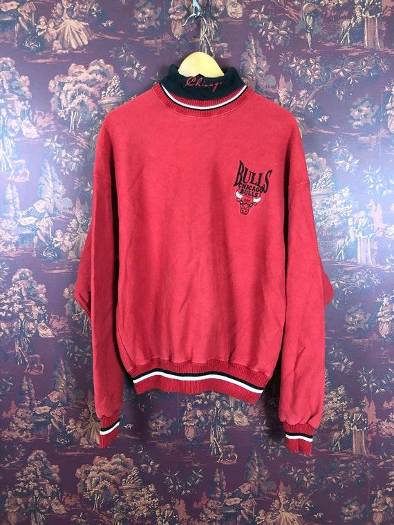 90s Chicago Bulls Turtleneck Sweatshirt