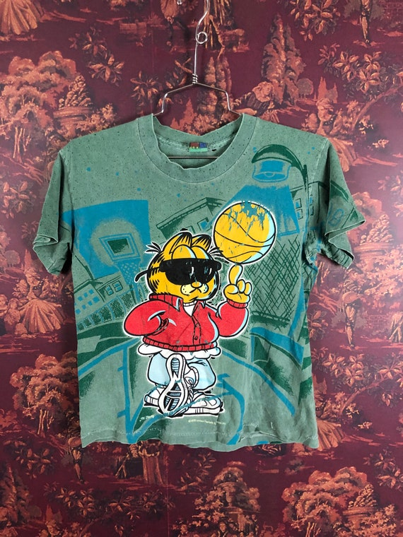 Thrashed 90s Garfield All over print