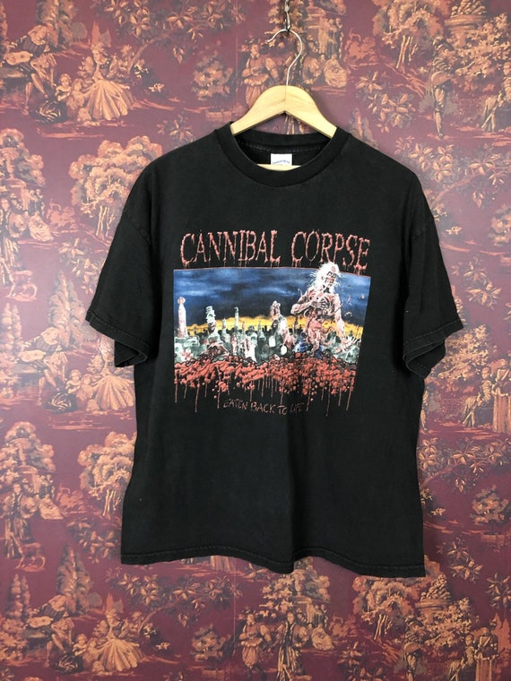 Eaten back to life \u00a91992 Old school death metal vintage T-shirt X-Large Size CANNIBAL CORPSE