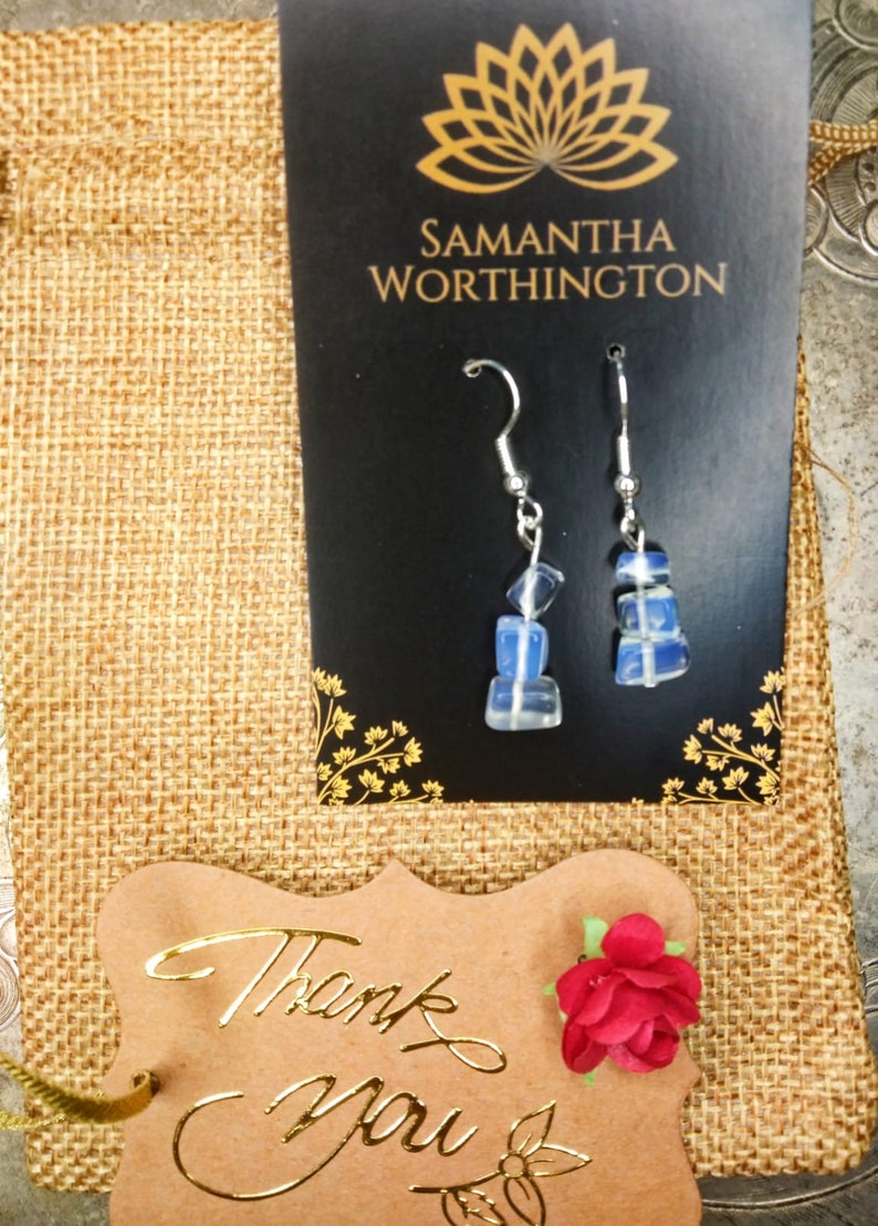 Gift for Her Rainbow Moonstone Earrings Designed by Contemporary Artist Samantha Worthington Wedding Jewelry Mother/'s Day Gift
