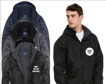 UNEEK Personalised Custom Embroidered Waterproof Workwear Unisex Active Jacket