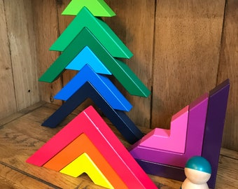 Wooden Angles Stacking Blocks Toy
