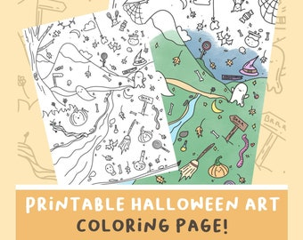 Printable Digital Halloween Poster for coloring   Drawing to print Pumpkin ghost Digital download of wallpapers for mobile phones