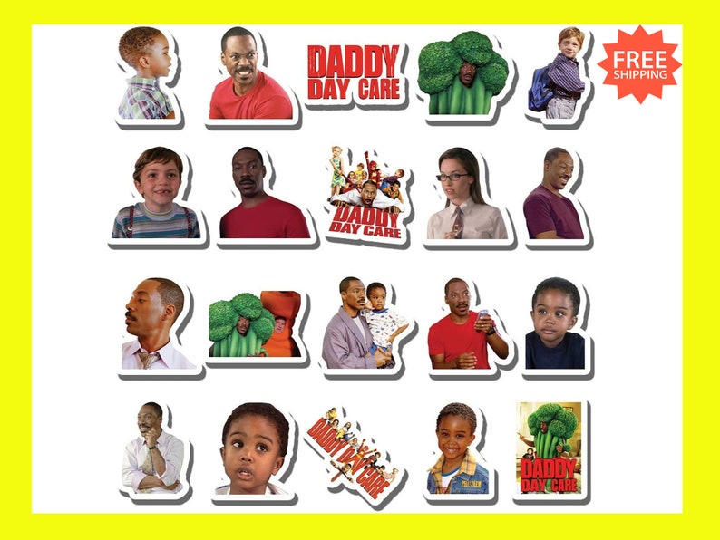 20 PCS Stickers Pack Daddy Aesthetic Day Vinyl Care Colorful Waterproof for Water Bottle Laptop Bumper Car Bike Luggage Guitar Skateboard
