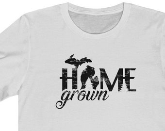 Michigan Home Grown T-Shirt | Bella+Canvas | Unisex Short Sleeve | Michigan Clothing
