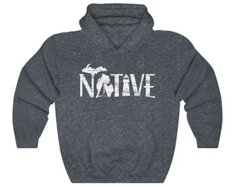Michigan Native Hooded Sweatshirt | Michigan | Lighthouse | Boating | Great Lakes