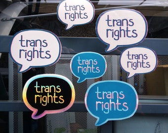 Trans Rights Speech Bubble Stickers