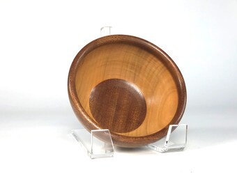 Cherry and Ribbon-Striped Sapele Candy Bowl