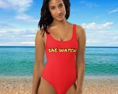Bae Watch Sexy One-Piece Swimsuit, Women 39 s Swimsuit, Cute Baywatch Bathing Suit, One Piece Swimsuit, Ladies Swimwear, Hot Girl Summer Vibes