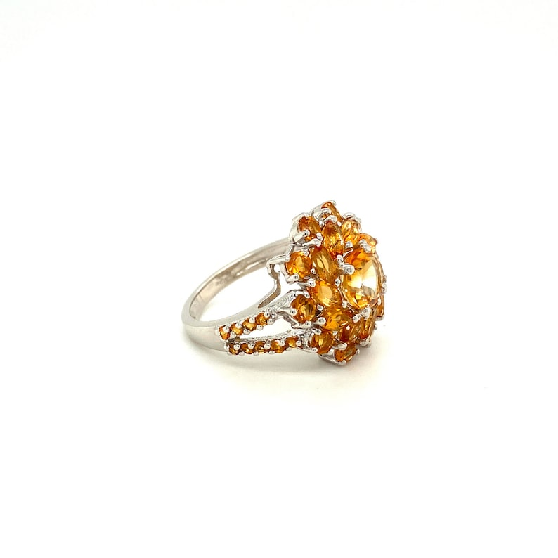 Dainty Ring Statement Rings Sterling Silver Ring Personalized Jewelry Gift Natural Citrine Silver Ring Birthstone Rings