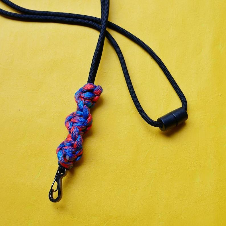 Handmade DNA Lanyard Carabiner Key Holder Clip Keyring Paracord COLOUR CHOICE Dog Whistle Lanyards Breakaway Snap Clip Id Holder