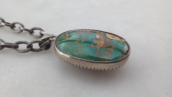 vintage turquoise pendant, vintage turquoise penda