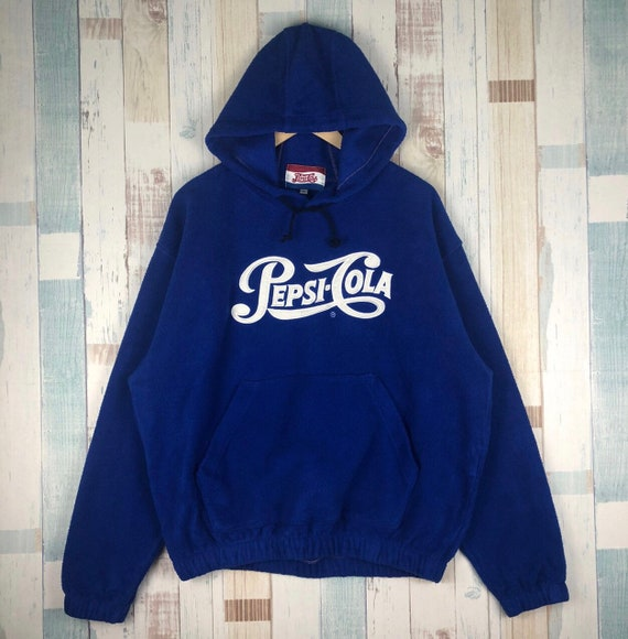 Vintage Pepsi Cola Embroidery Logo Hoodie Fleece