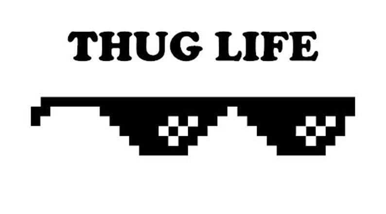 Thug life meme funny decal sticker jdm kdm euro car truck buy 2 get 1 free