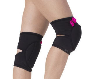 kitty grip knee protection Adult knee pads with grip black classic knee pads perfect gift for pole dancer knee pads kit