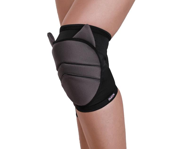 dark knee pads for dancer Cute cat knee pads for pole dance black soft knee pads yoga knee pads