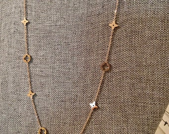 The Ayla collection: Rose Gold Four leaf clover necklace titanium steel
