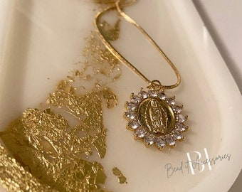 Ave Maria Necklace (extra long chain) | Gift | religious|