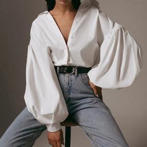 size Large Vintage Novelty Print Blouse Scoop Neck Button Down Shirt White 80s Blouse Emblem Patterned Blouse 90s Flag Print Blouse
