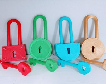 Hello Neighbor Lock and Key   - 3D Printed Kids Pretend Play and Escape Room Fan-Inspired