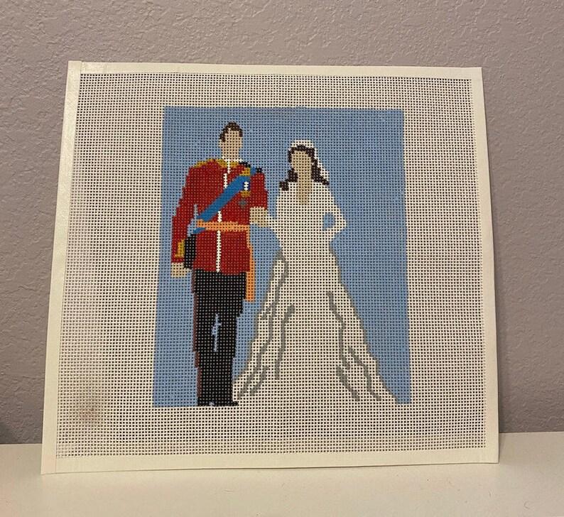 Royal Wedding Needlepoint Canvas