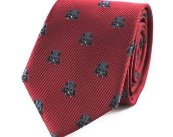 Burgundy Red Star Wars Darth Vader Neck Tie
